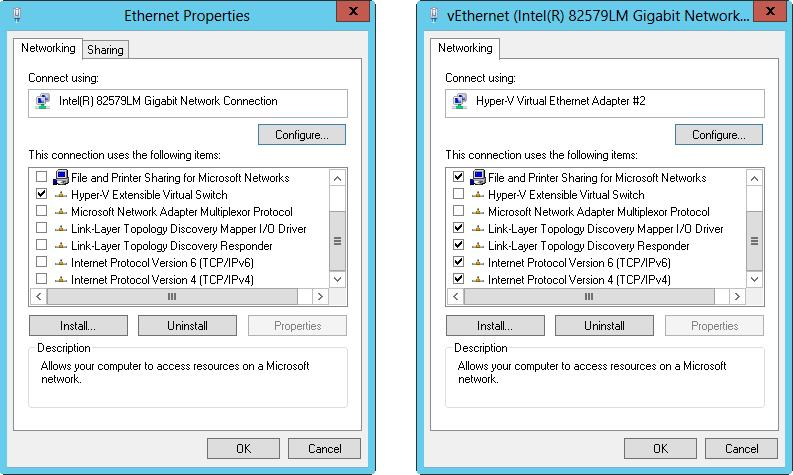 Configuring networking for Hyper-V / Windows Server 2012 R2 Storage